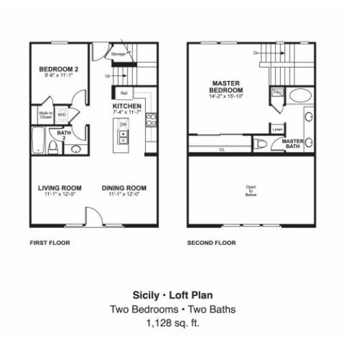 Garage Apartment Plans 2 Bedroom: 2 Bedroom 1 Bath Garage Apartment Plans