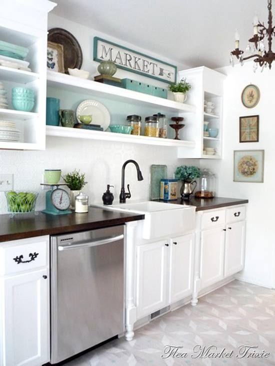 decoracin de una cocina prctica y con toques vintage