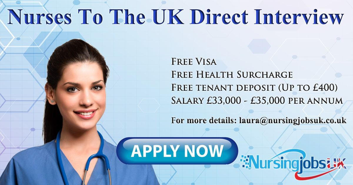 Nurses Free Placements to the UK Direct Interview