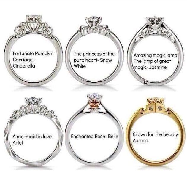 Disney Princess Wedding Rings Oooooh I like this Pinterest