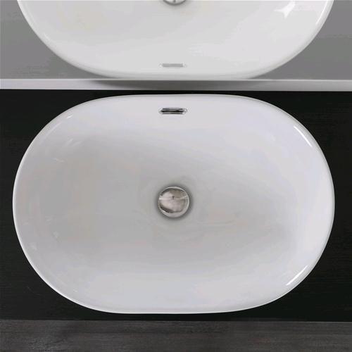 Dettagli su lavabo incasso soprapiano in ceramica 60x40 cm for Lavabo softly