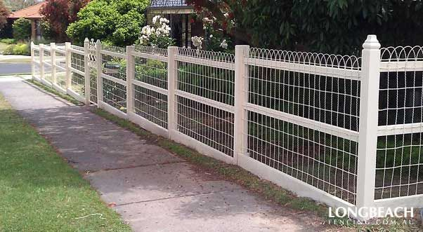 Sheep wire fences with ornate patterns are a transitional style ...