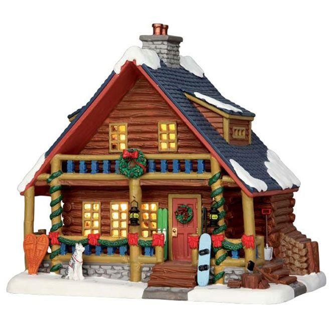 Maison Village Noel Maison de Noël illuminée « Chalet Parker », porcelaine | Lemax