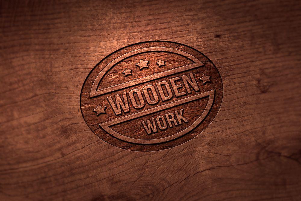 Download Wooden Logo Free Mockup Wood Logo Logo Mockup Mockup
