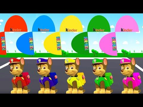 Colors for Children to Learn with Color Chase Paw Patrol, Learn Colours ...