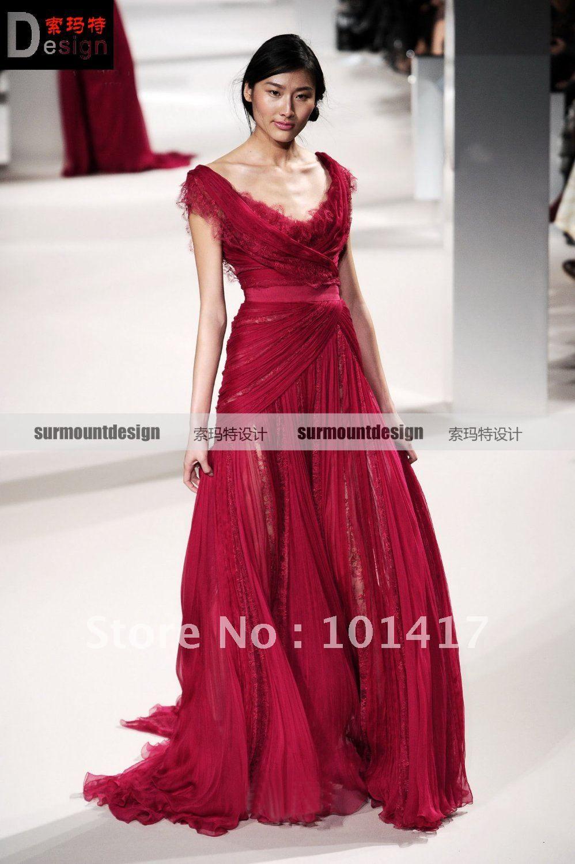 Elie saab red evening dress | Beautiful dresses | Pinterest | Elie ...