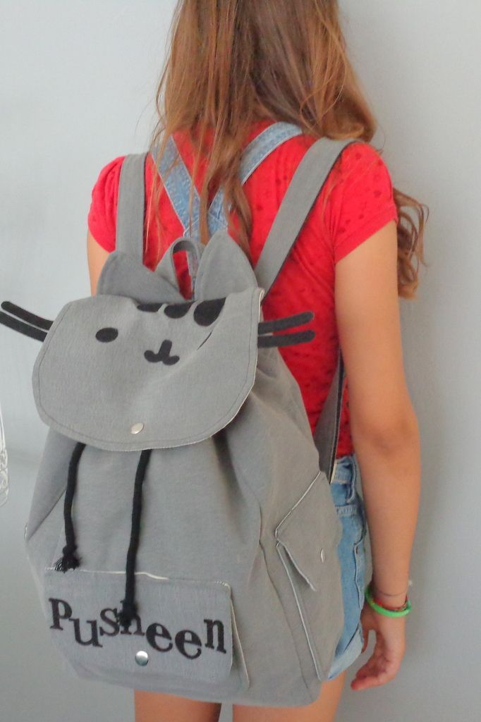 ab9c106e457ed Pusheen Sırt Çantası, okul çantası gri | sırt çantaları | Pusheen ...
