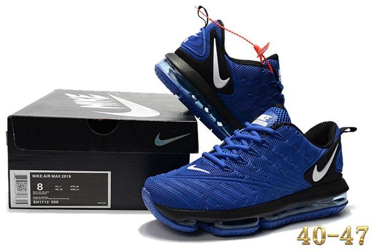 2c4e6acbcd22c4 Nike 2019 KPU AIR MAX Sports Shoes Men Royal Blue Black 40-47 in ...