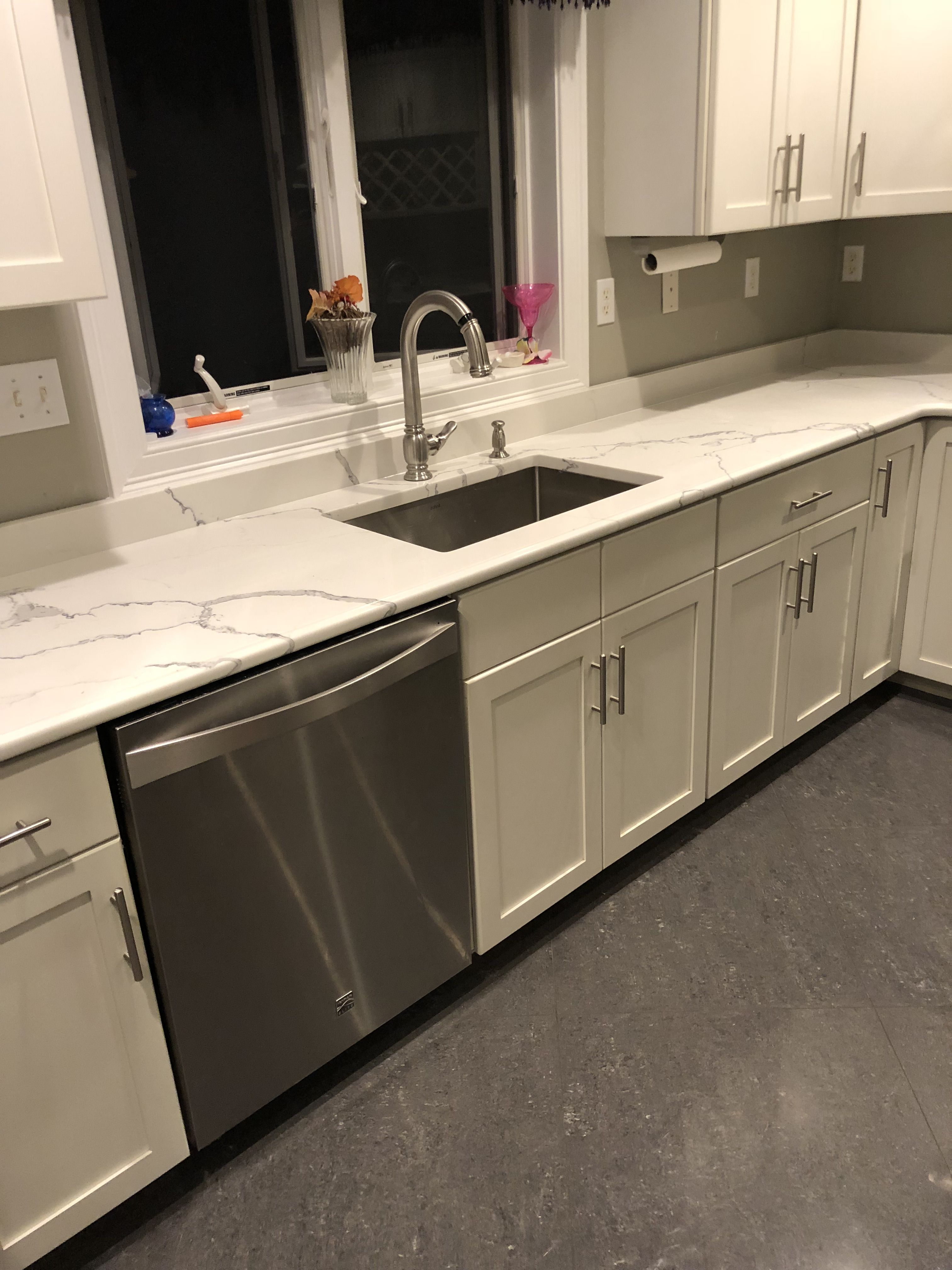 Statuary Clique Quartz Kitchen Countertop
