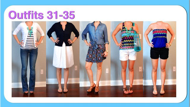Outfit Posts: (outfits 31-35) one suitcase: beach vacation capsule wardrobe