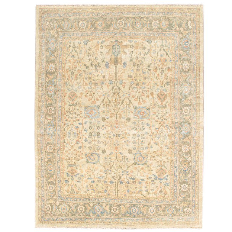 21st Century Hand Knotted Cream And Blue Persian Sultanabad Carpet 21st Blue Carpet Century Cream Ha In 2020 With Images Rugs On Carpet Modern Persian Rug Red Oriental Rug
