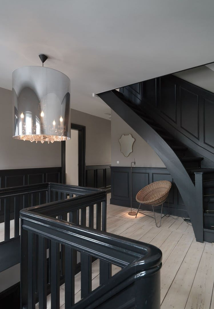 home interior design stairs%0A Explore Black Walls  Black Staircase  and more