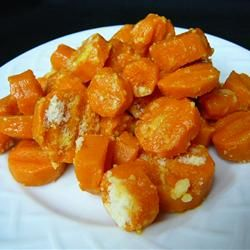 Parmesan Crusted Baby Carrots . Sweet baby carrots are best for this