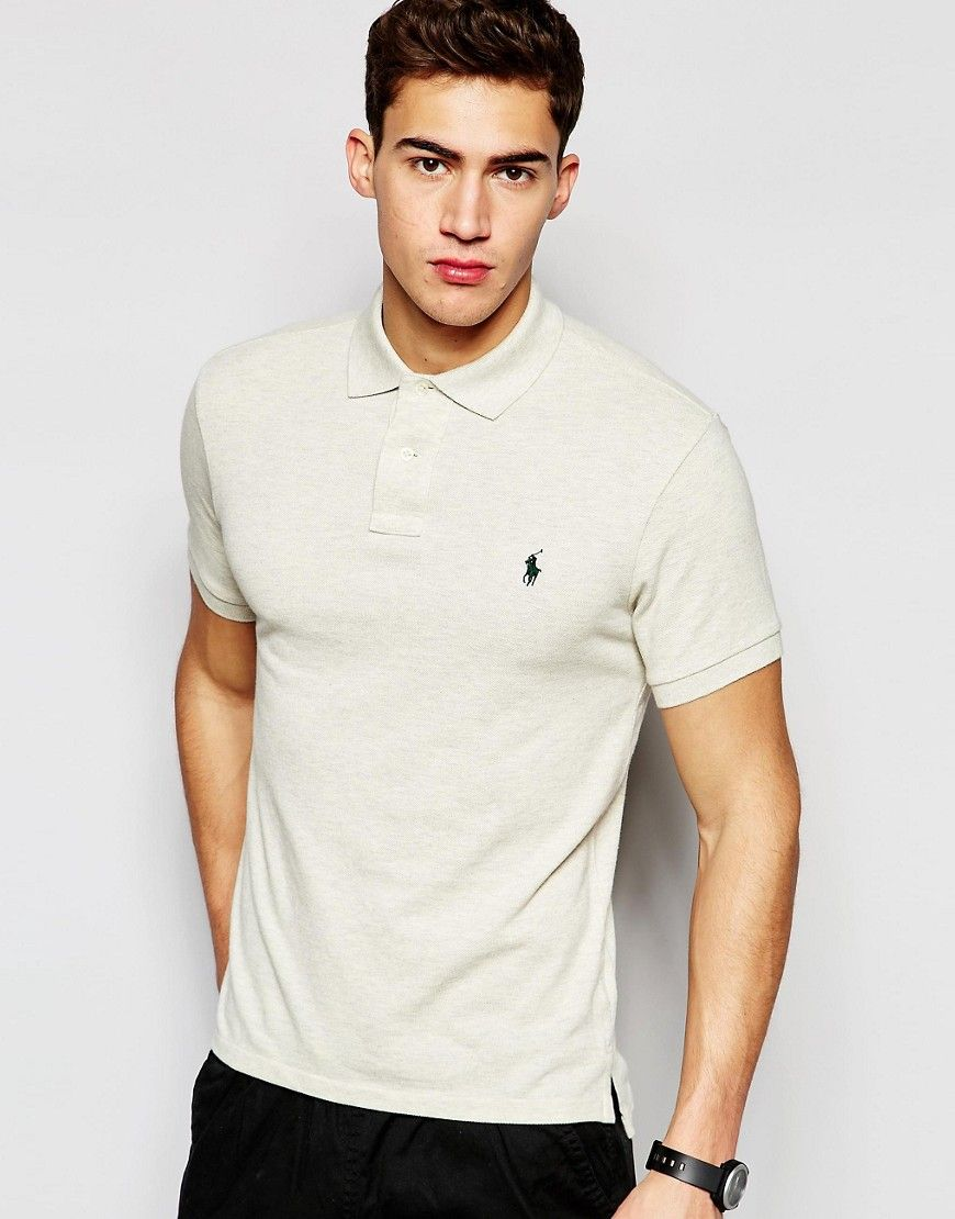 1e893f1821afac Polo+Ralph+Lauren+Polo+Shirt+With+Logo+In+Cream+Slim+Fit | Stylin ...