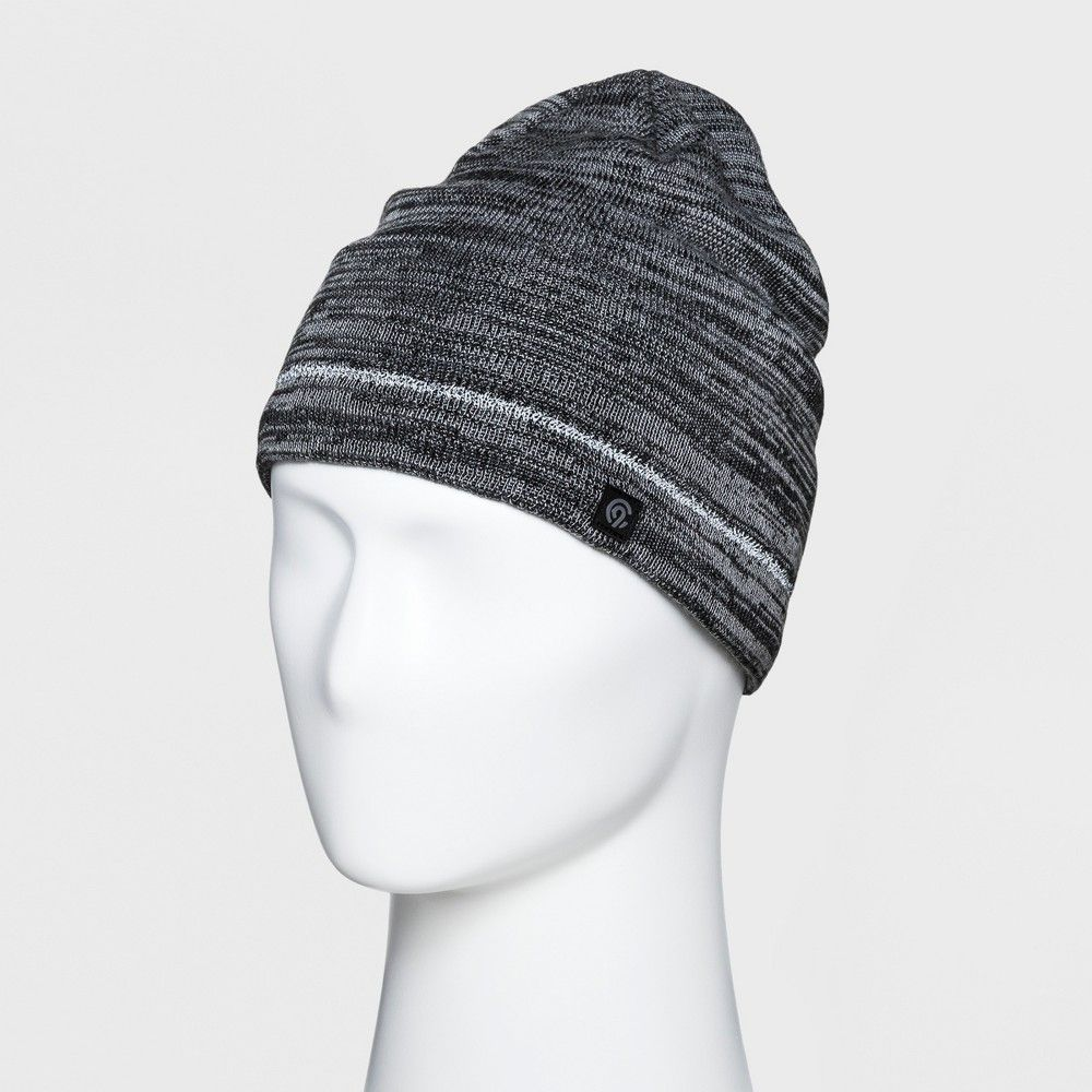 0d893882598 Men s Marled Reflective Beanie - C9 Champion Black Gray One Size  Apparel   ApparelAccessories  Hats GlovesandScarves  Hats