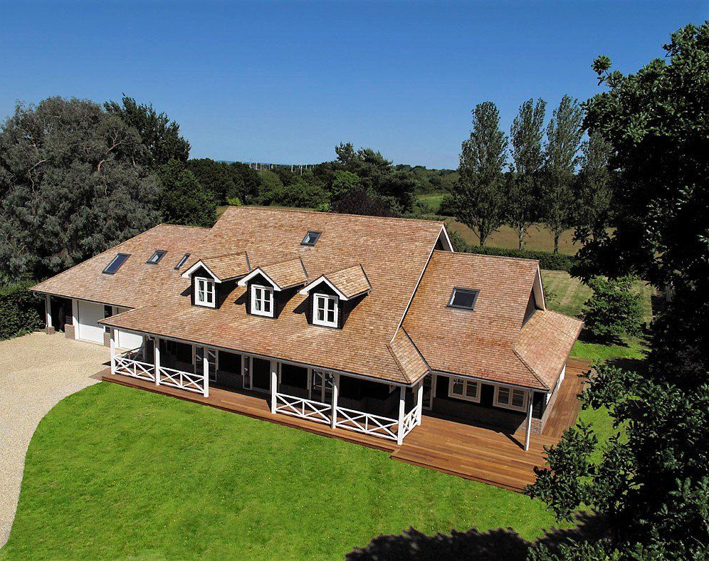 Love This American Ranch Style House Design That Porch Is Amazing And The Dormers Are So Cute Ranch Style House Designs Self Build Houses Bungalow Design