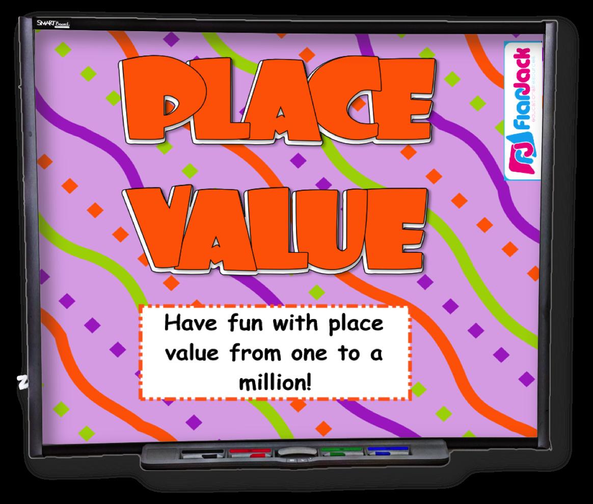 4th Grade Place Value Smart Board Game
