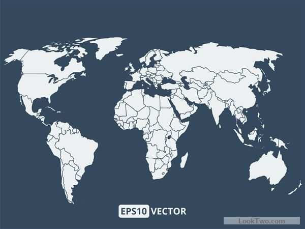 Simple world map vectors graphcs 02 free vector download free simple world map vectors graphcs 02 free vector download gumiabroncs Images