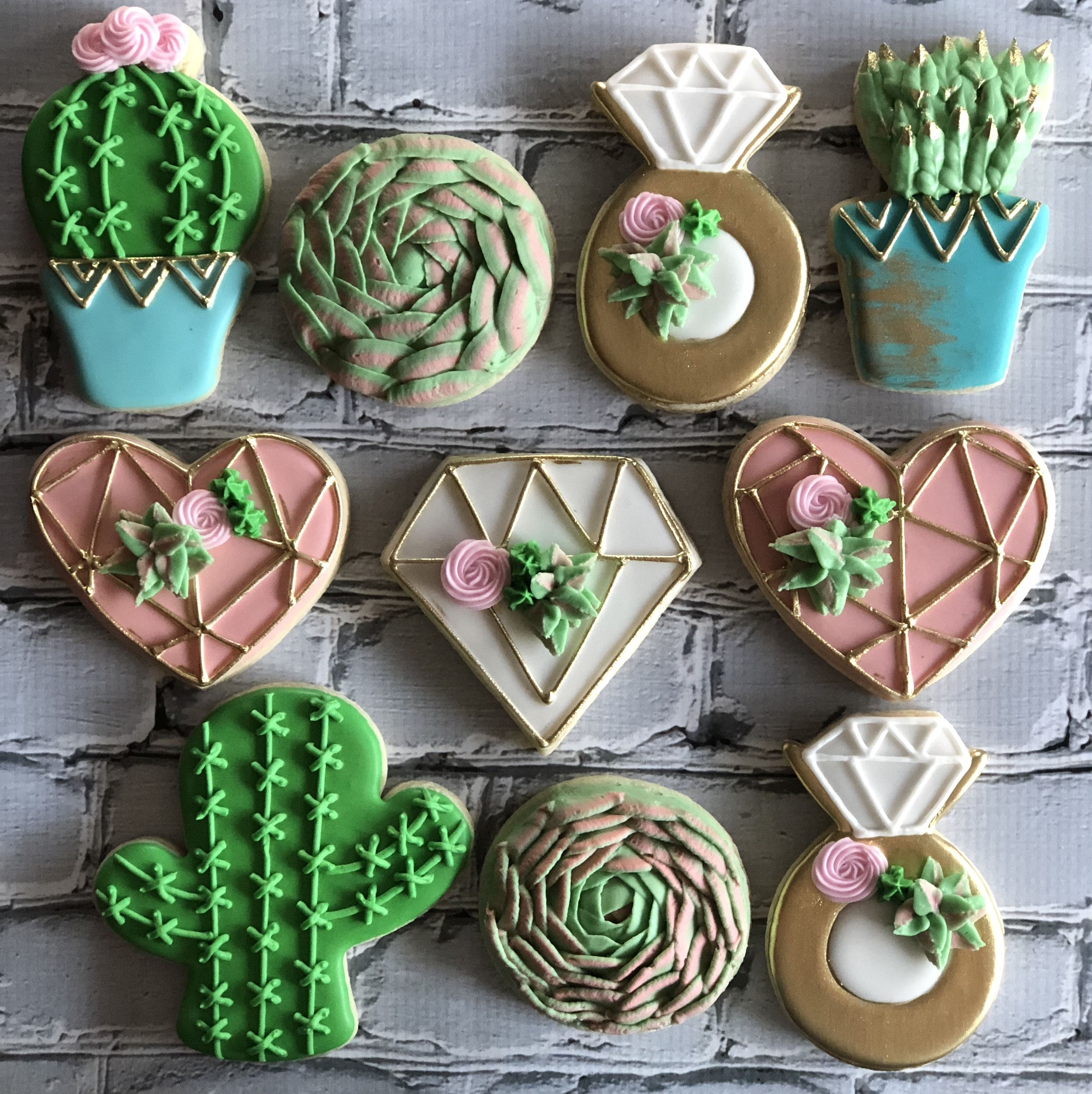 Custom Cookies Succulents To see more of my work or to