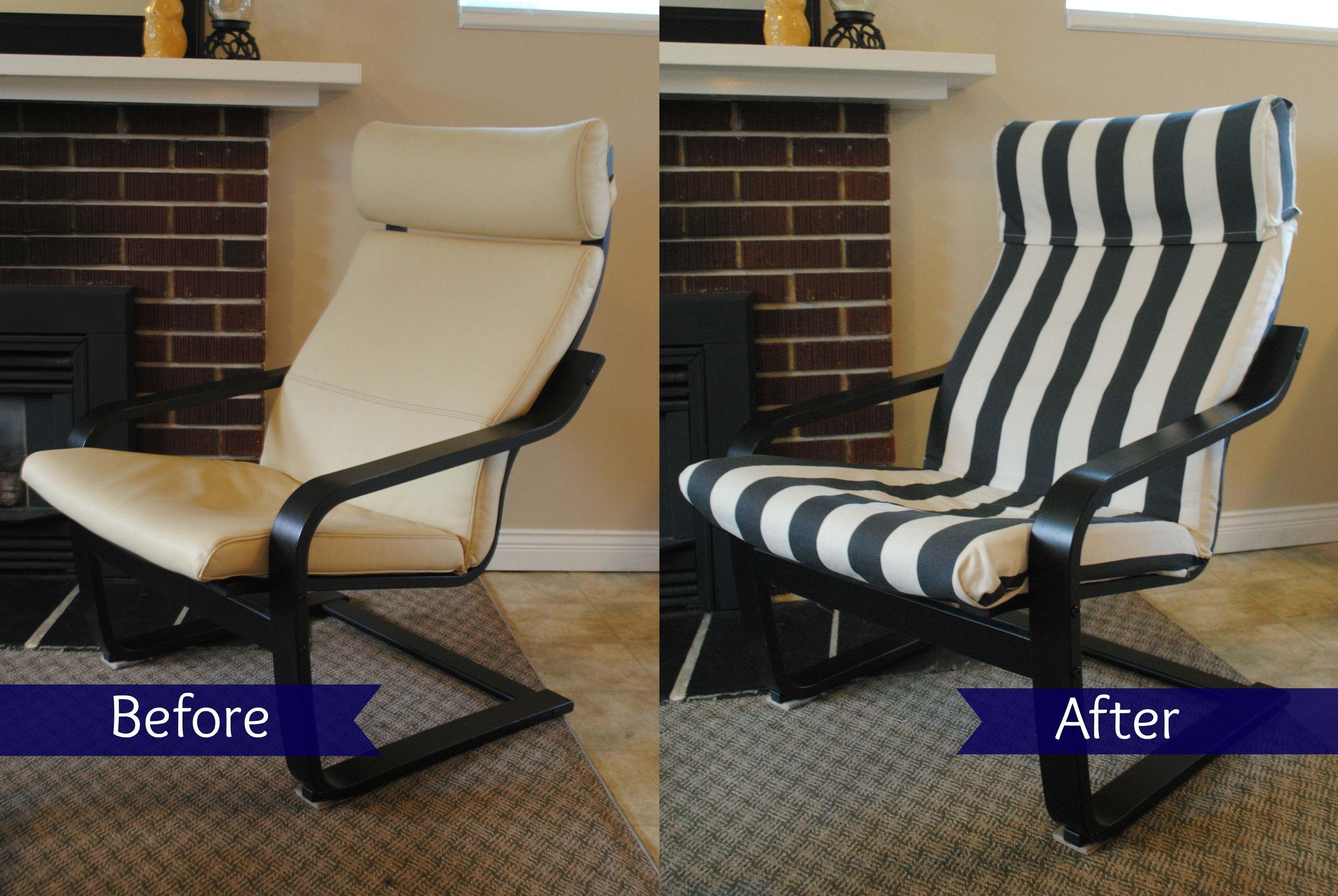 Ikea hack poang chair recover furniture makeovers