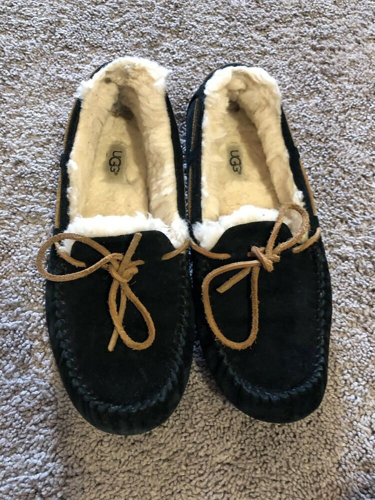 7bbe9372a64 Advertisement)eBay- UGG Australia Dakota Women's Slippers 5612 Black ...