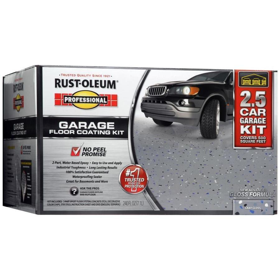 RustOleum High Performance 2Part Gray Gloss Garage Floor