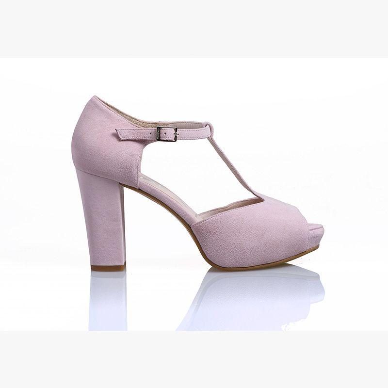 7ea9c0ff3a724 Sandalia en color rosa de Gadea Shoes para novia Sandalias Novia