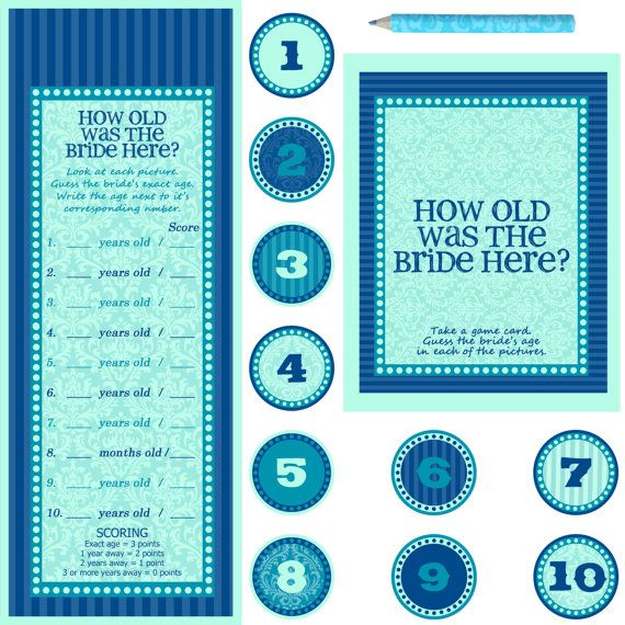 Bridal Shower or Bachelorette Party Game - DIY Printable - How old was the bride here 8x10(portrait) Frame Opening on Etsy, $11.70 AUD