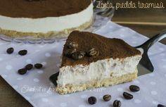 La torta fredda tiramisù con caffè e mascarpone è un dolce fresco e goloso, la variante cheesecake del tiramisù classico.