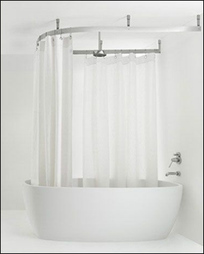 Rain Shower Head With Standing Tub Throw In A Cuter Shower Curtain Of Course Large Shower Curtains Diy Shower Curtain Shower Tub