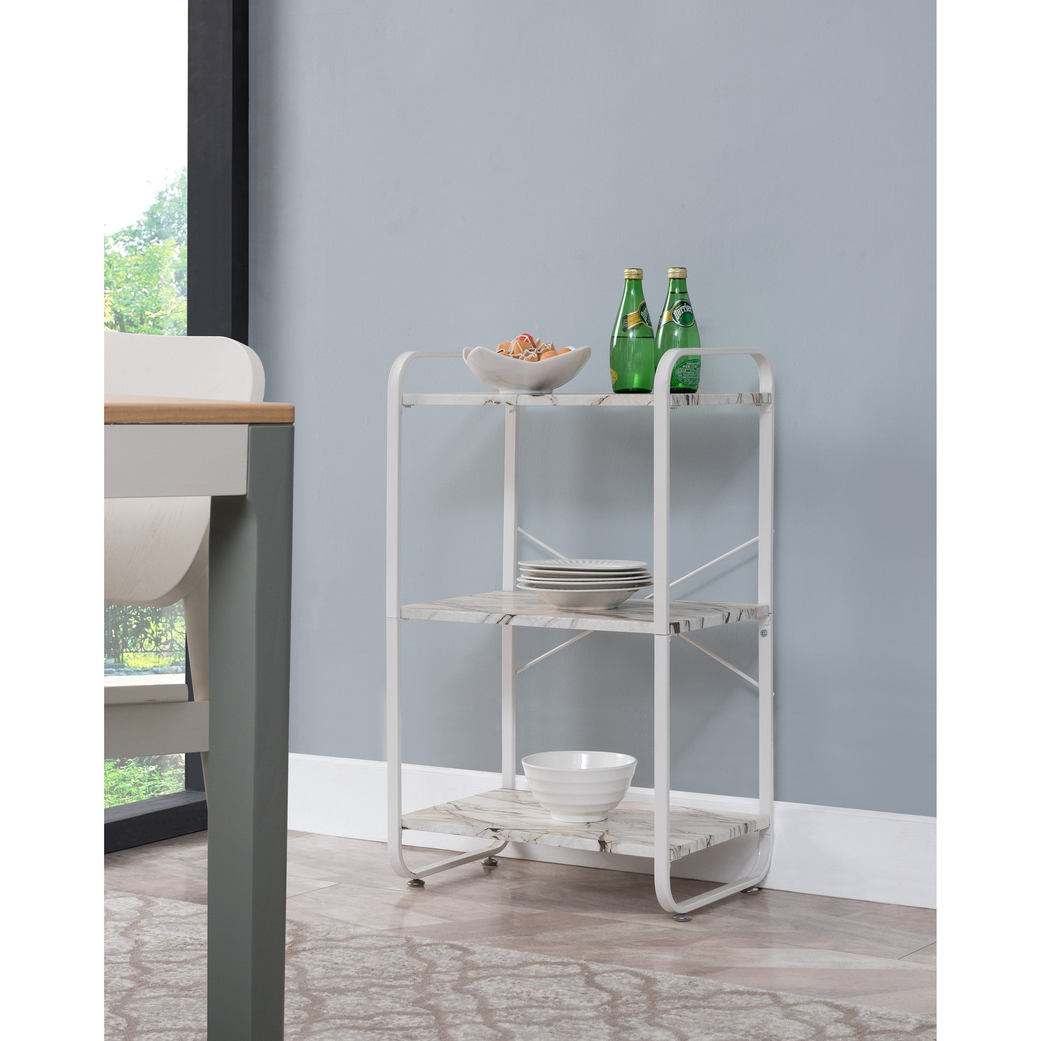 Transitional Baker S Rack White Chairs For Small Spaces Bakers