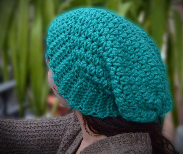 Star Field Slouchy Hat pattern by Utterly Intertwined