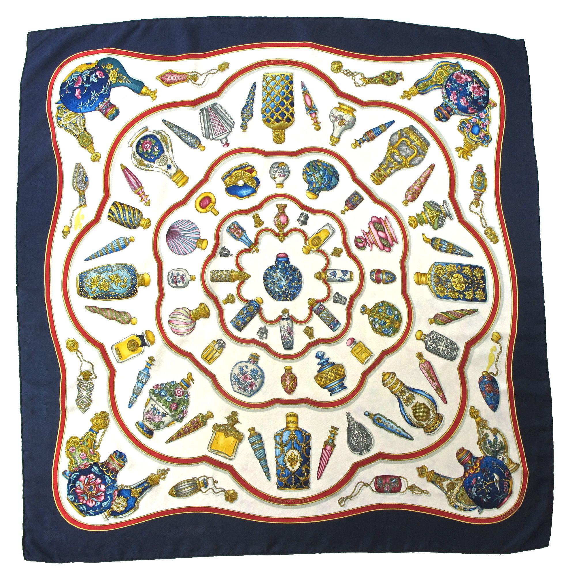 I found this Vintage Hermes Silk Scarf on www.peekaboovintage.com