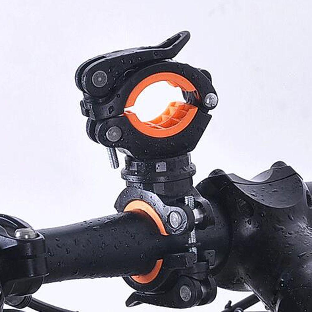 360° Cycling Bike Bicycle Front Light Holder LED Flashlight Torch Mount Bracket