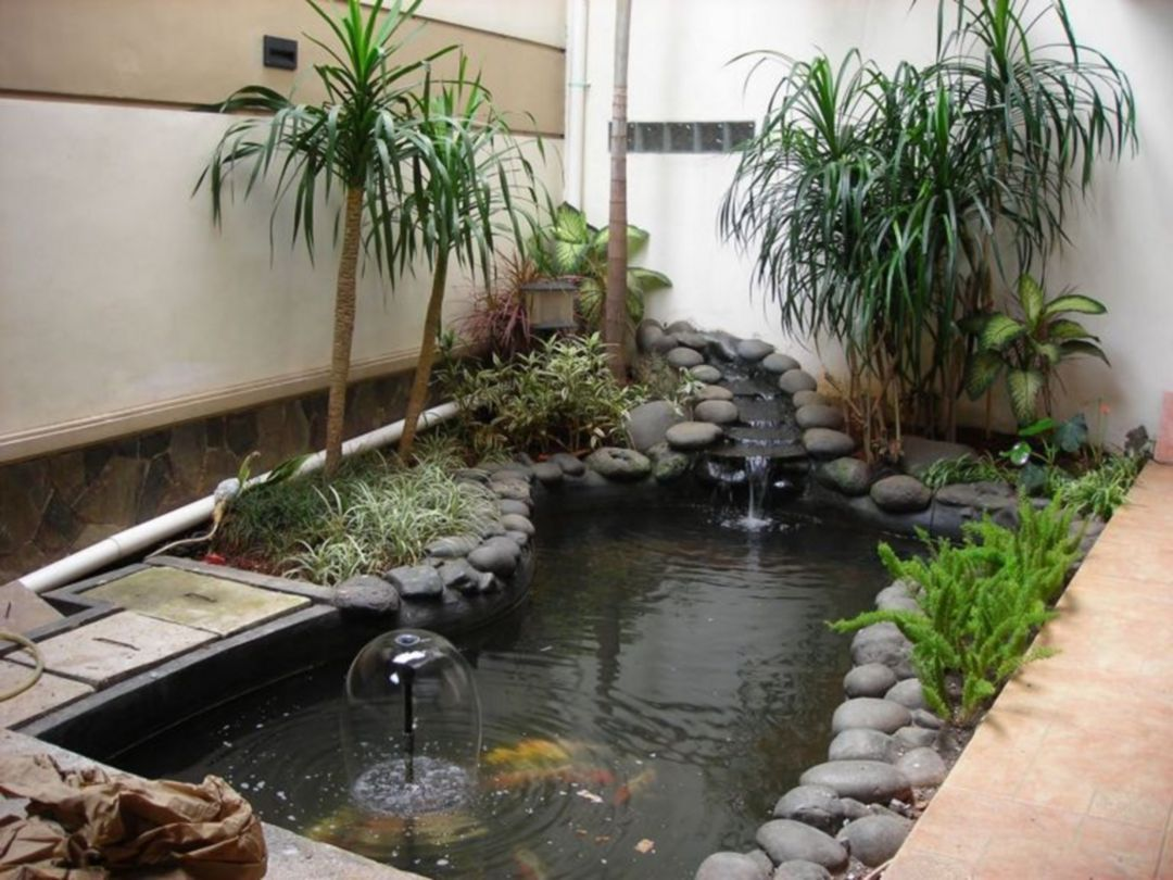 15 Beautiful Fish Pond Design Ideas To Decorate Your Home Design Decorating Ponds Backyard Minimalist Garden Koi Pond Design Mini backyard fish pond