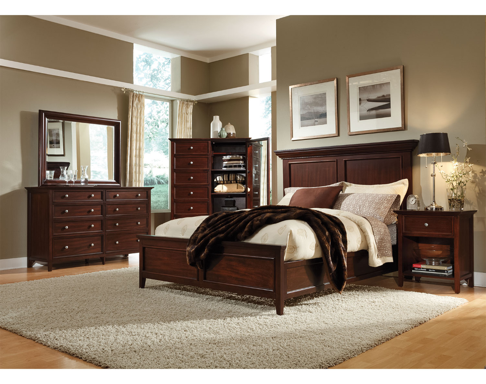 interior decorating bedroom with cherry furniture   Google ...