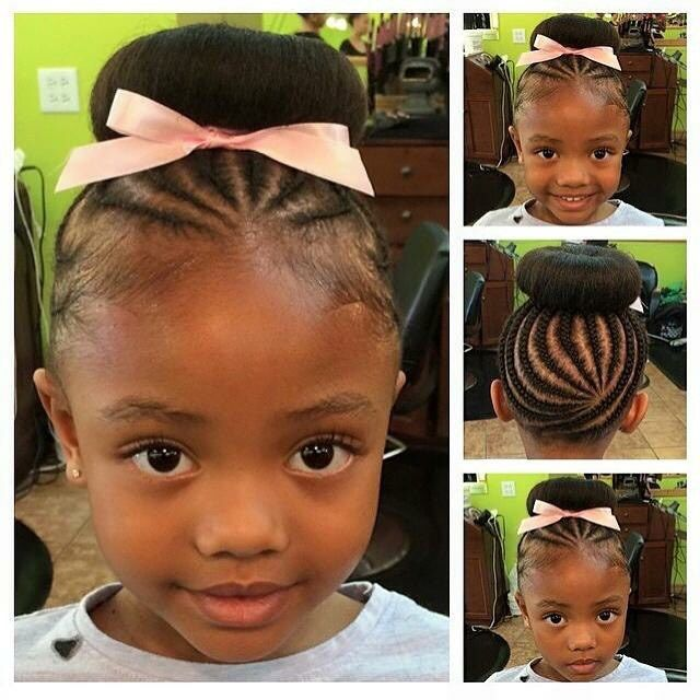 adorable braided buns little