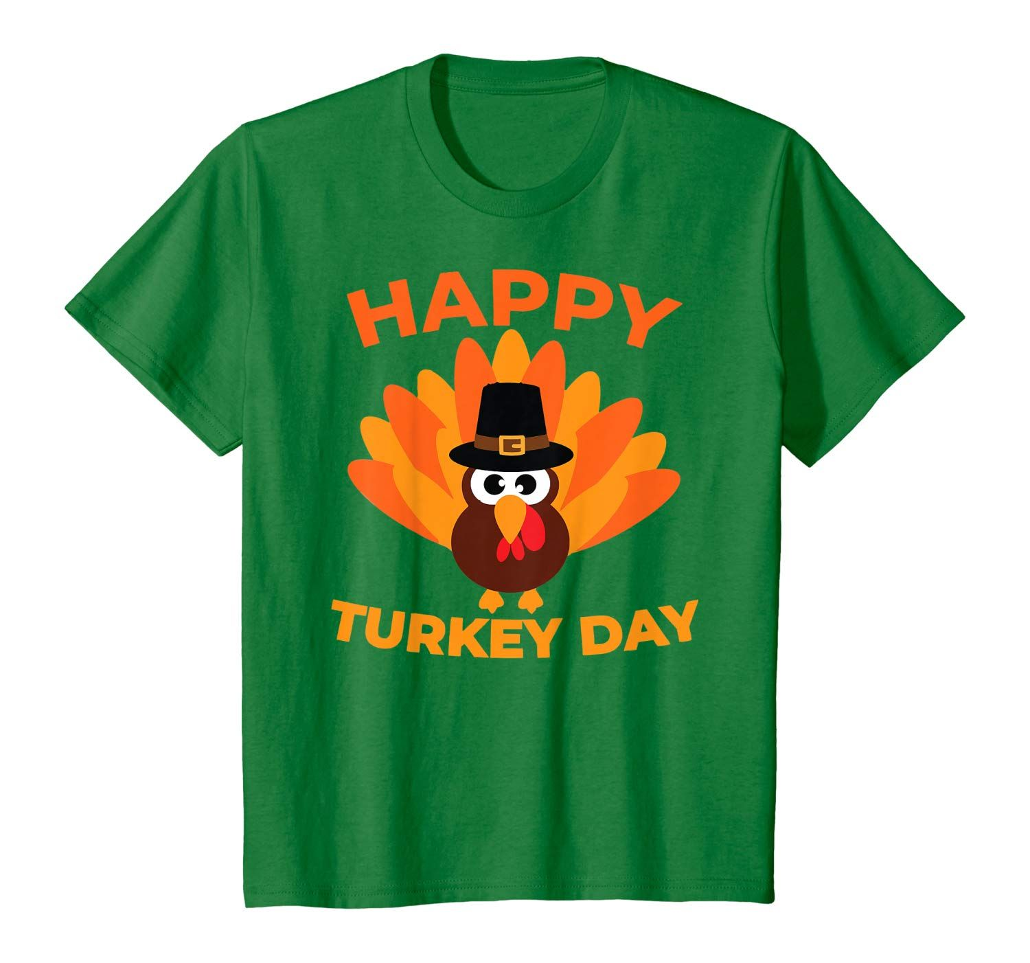 Kids Happy Turkey Day Thanksgiving Outfit  Cute  T-Shirt