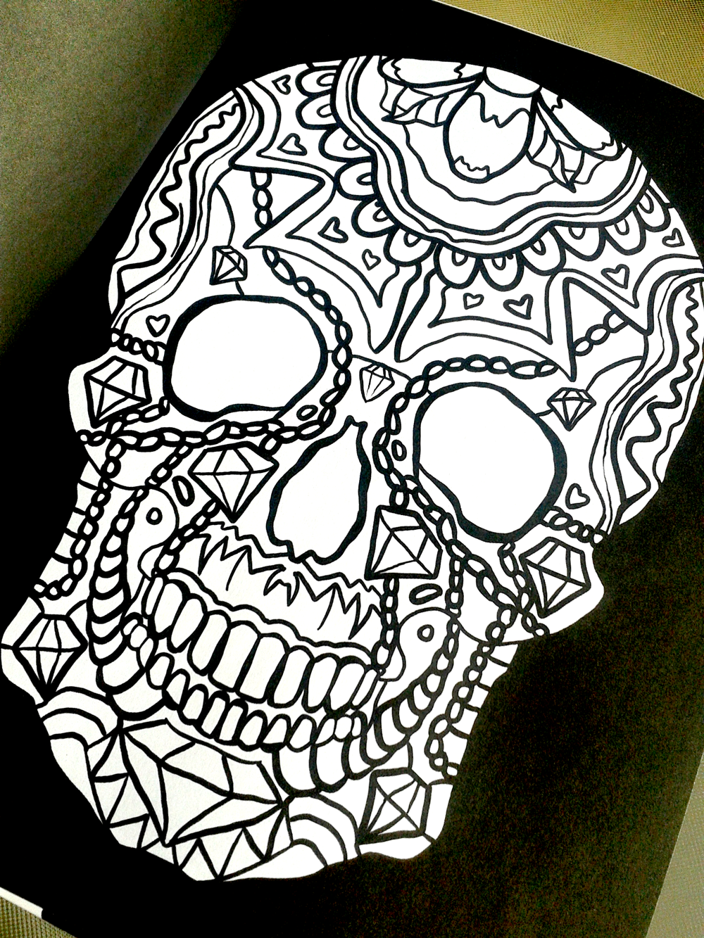 day of the dead dia de los muertos sugar skull coloring pages