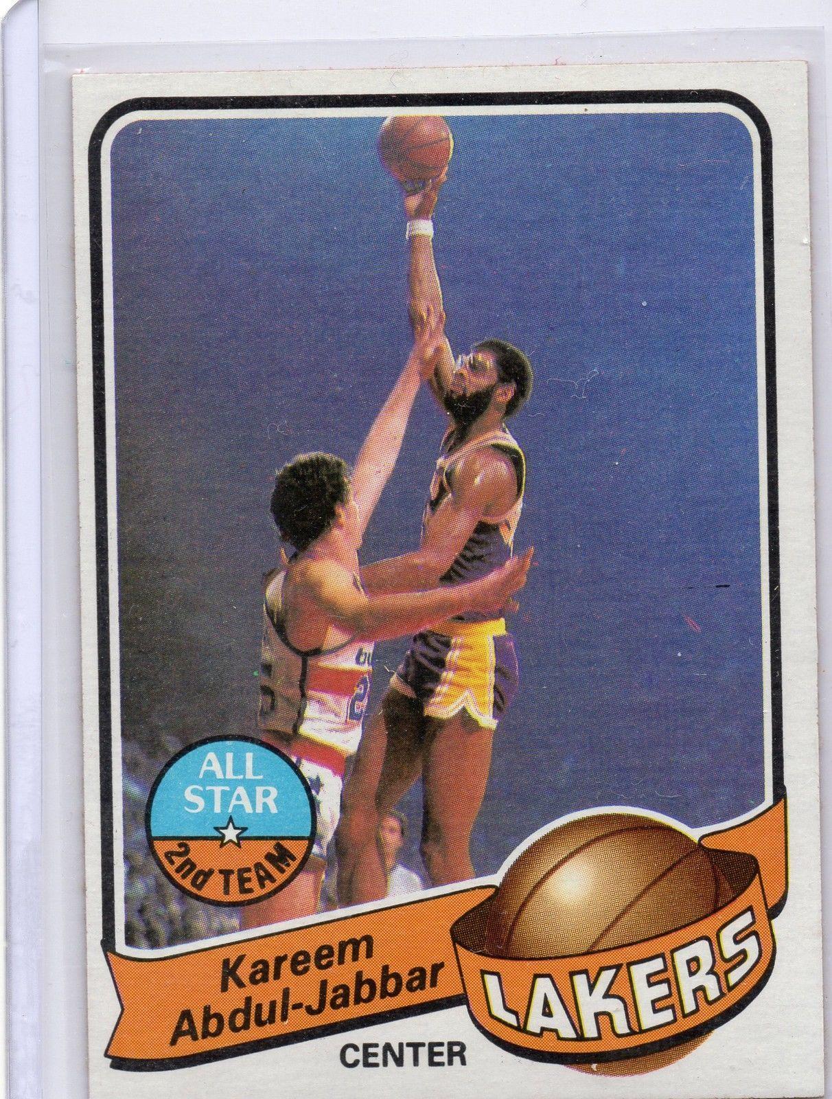 197980 topps basketball cards kareem kareem abdul jabbar