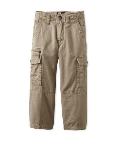 82% OFF Micros Boy\'s 2-7 Asymmetry Cargo Pant (Dark Khaki)