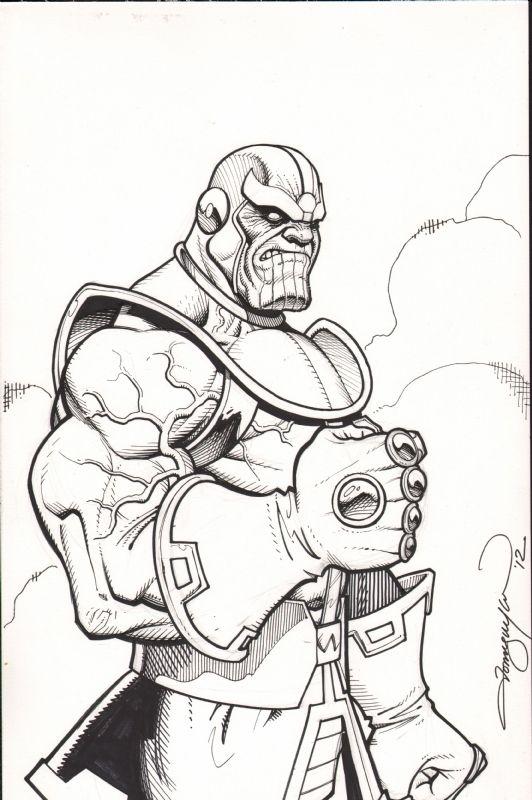 Thanos! Black and White | Comic Awesomeness! | Pinterest | Comic ...