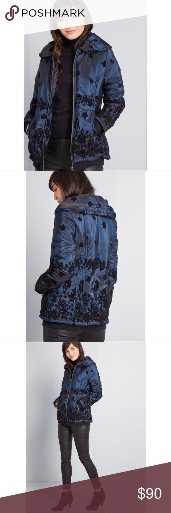 Plus Size Modcloth Blue Velvet Puffer Jacket Clothes Design Modcloth Blue Velvet [ 1740 x 580 Pixel ]