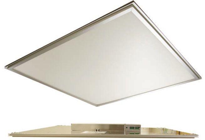 Maxlite Edge Lit 2 Feet X 2 Feet Led Flat Panel Fixture Warm Aluminum Finish 419 95 Led Bathroom Lights Edge Lighting Recessed Ceiling Lights
