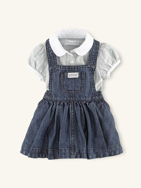 423d1f44b5 Denim Jumper Set - Outfits   Gift Sets Layette Girl (Newborn-9M) -  RalphLauren.com