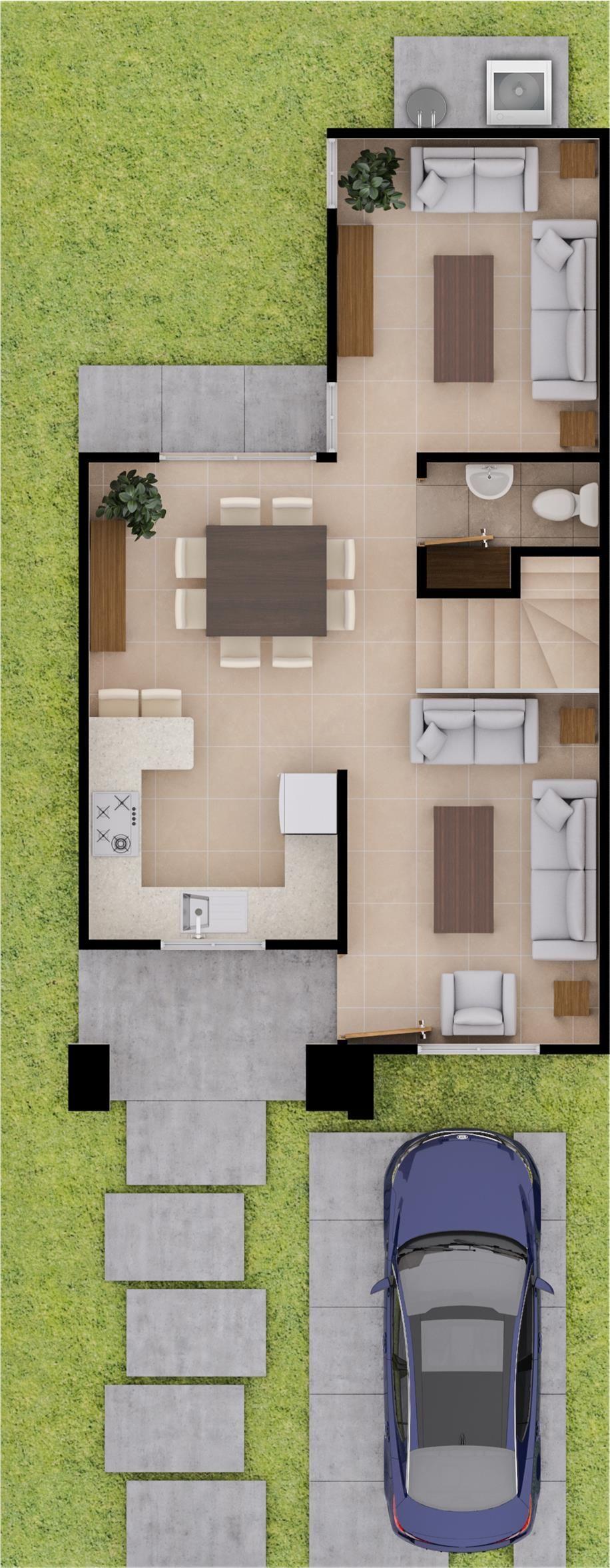 Mod valencia pb house planos de casas for Planos casas pequenas modernas
