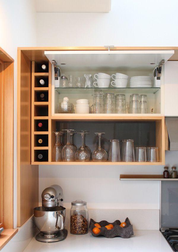 Grey White And Warm Vertical Grain Fir Wood Modern Kitchen