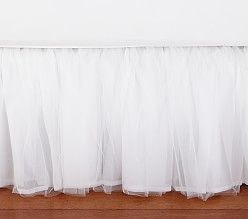 Monique Lhuillier Blush Pink Ethereal Kids Bed Skirt