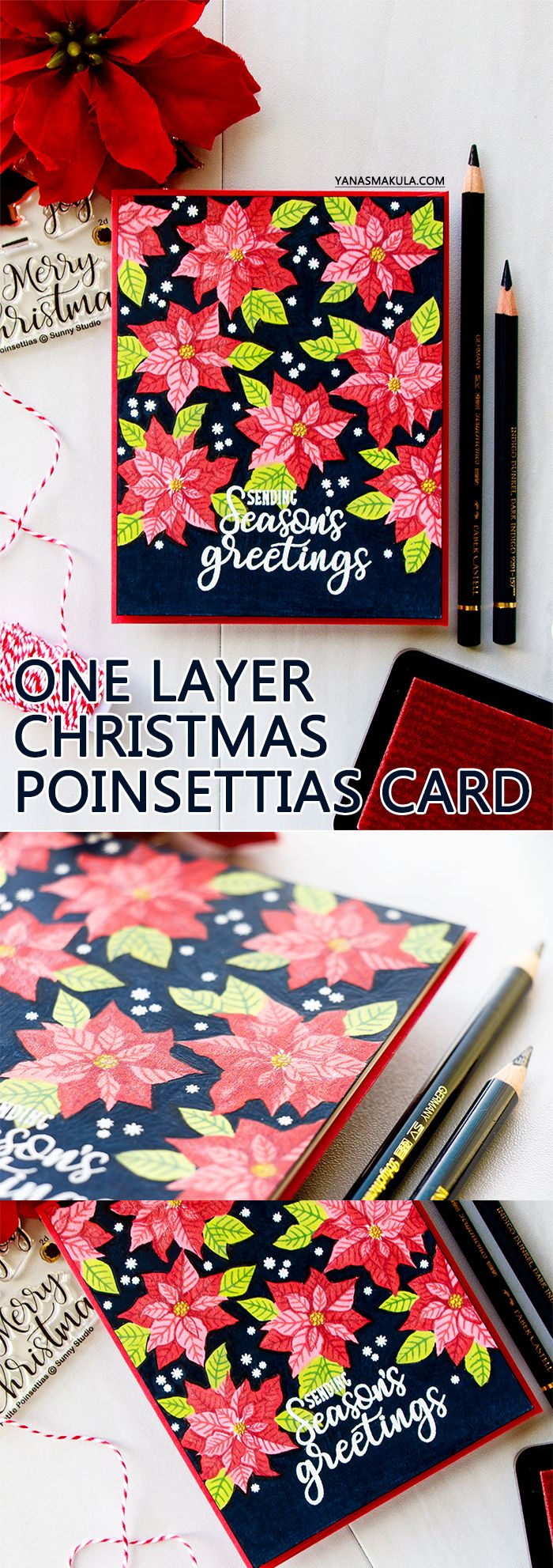 Sunny studio one layer vibrant christmas poinsettia card on dark sunny studio one layer vibrant christmas poinsettia card on dark background video christmas and winter cards pinterest poinsettia cards baditri Gallery