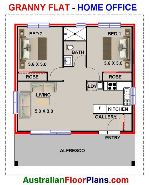 60 Life 700sq Foot 60 M2 Living Area 2 Bedrooms Granny Etsy House Plans For Sale House Plans Flat House Design Small modern house plans under 700 sq ft